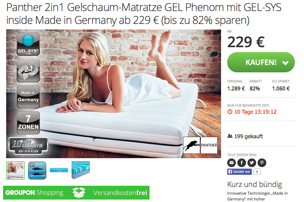 Boxspringbett groupon